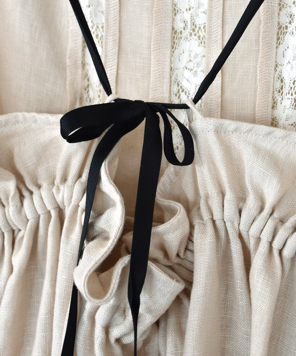 Linen Apron Dress(beige)<img class='new_mark_img2' src='https://img.shop-pro.jp/img/new/icons1.gif' style='border:none;display:inline;margin:0px;padding:0px;width:auto;' />