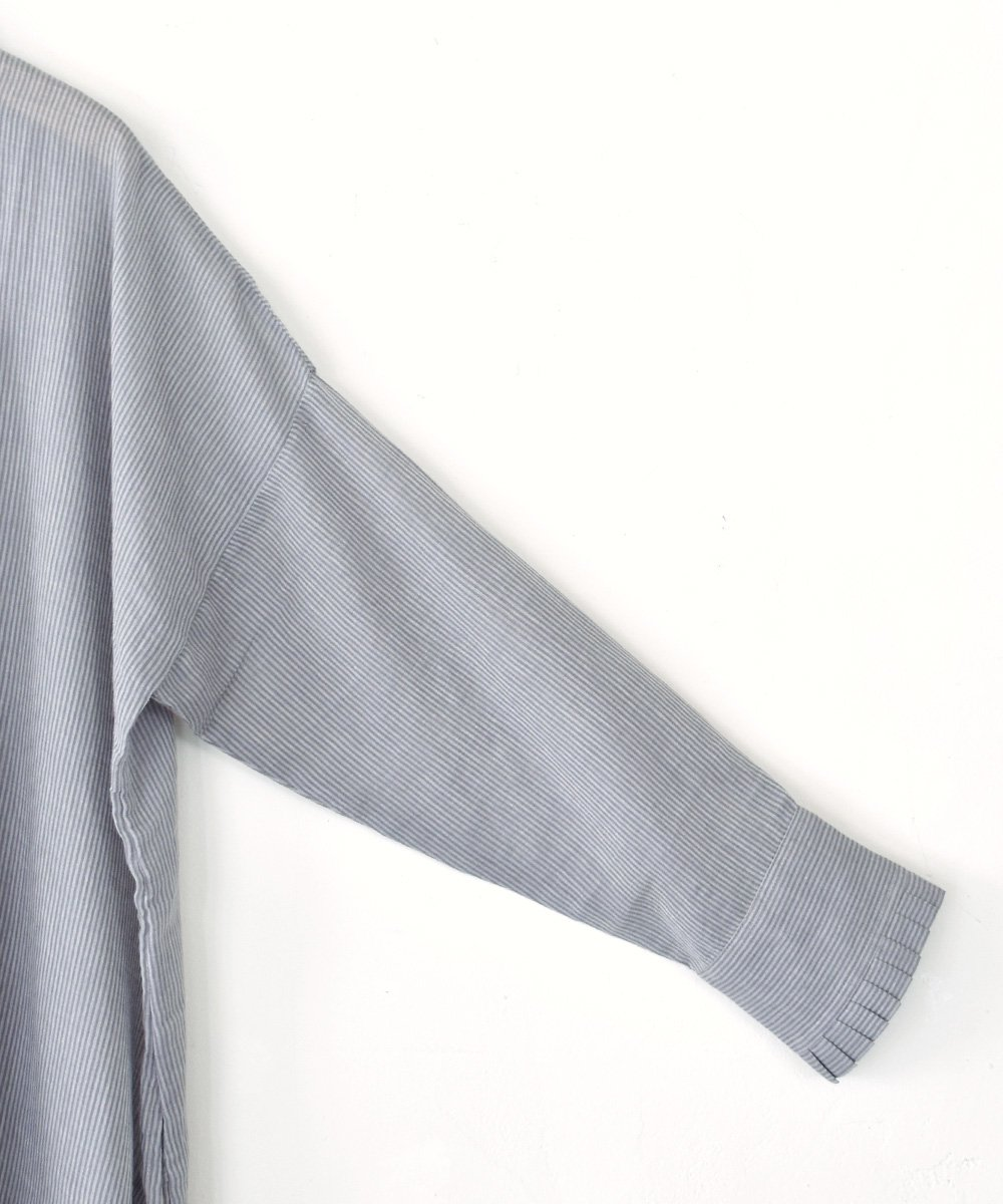Khadi Cotton High neck Wide Dress(L.Gray)<img class='new_mark_img2' src='https://img.shop-pro.jp/img/new/icons1.gif' style='border:none;display:inline;margin:0px;padding:0px;width:auto;' />