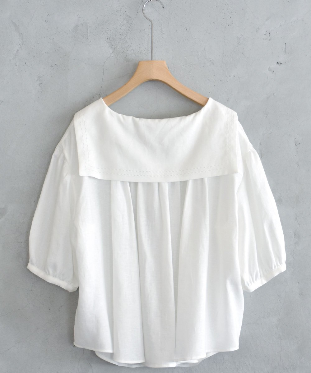 Sailor Collar Tops(White)<img class='new_mark_img2' src='https://img.shop-pro.jp/img/new/icons1.gif' style='border:none;display:inline;margin:0px;padding:0px;width:auto;' />