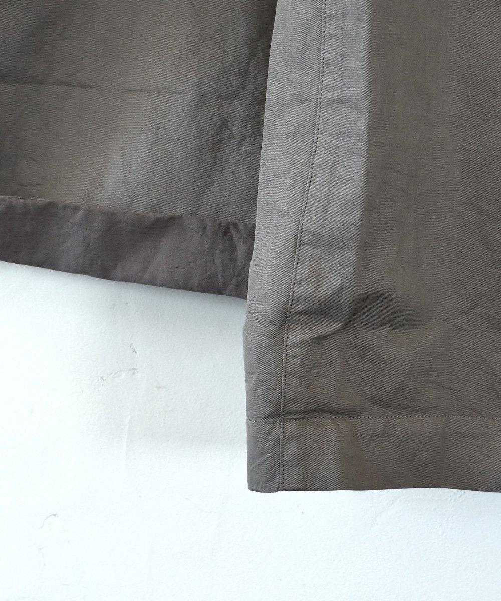 Work Linen Cotton サロペット(オリーブ)