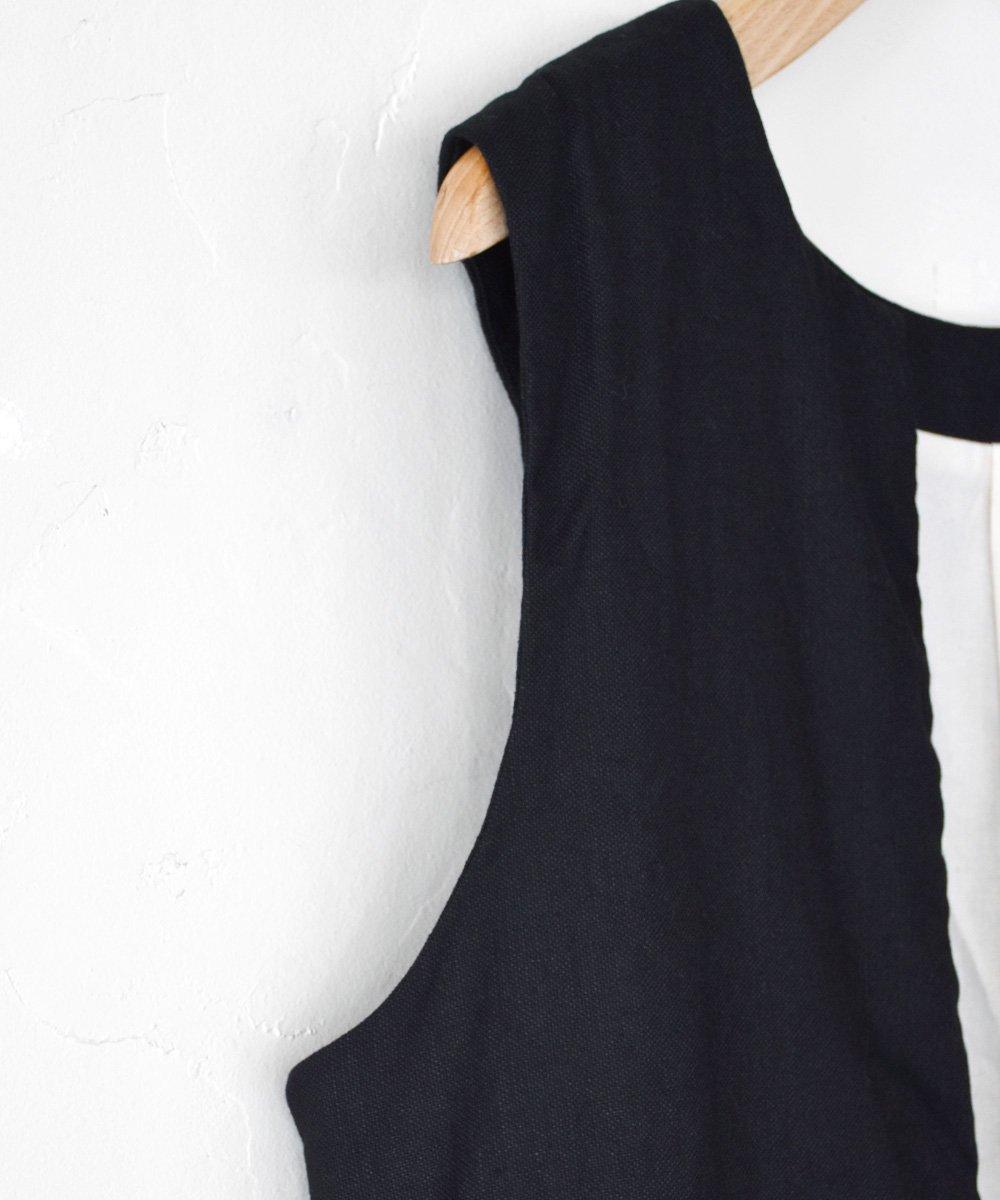 ROBE de PEAU / 2WAY GILET(BLACK)