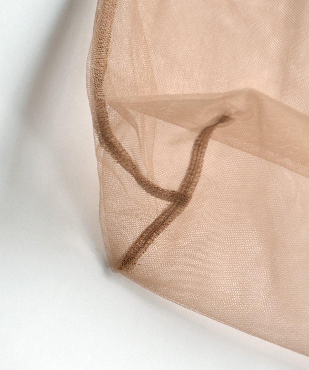 Corsage+Tulle Bag(Dark Beige)