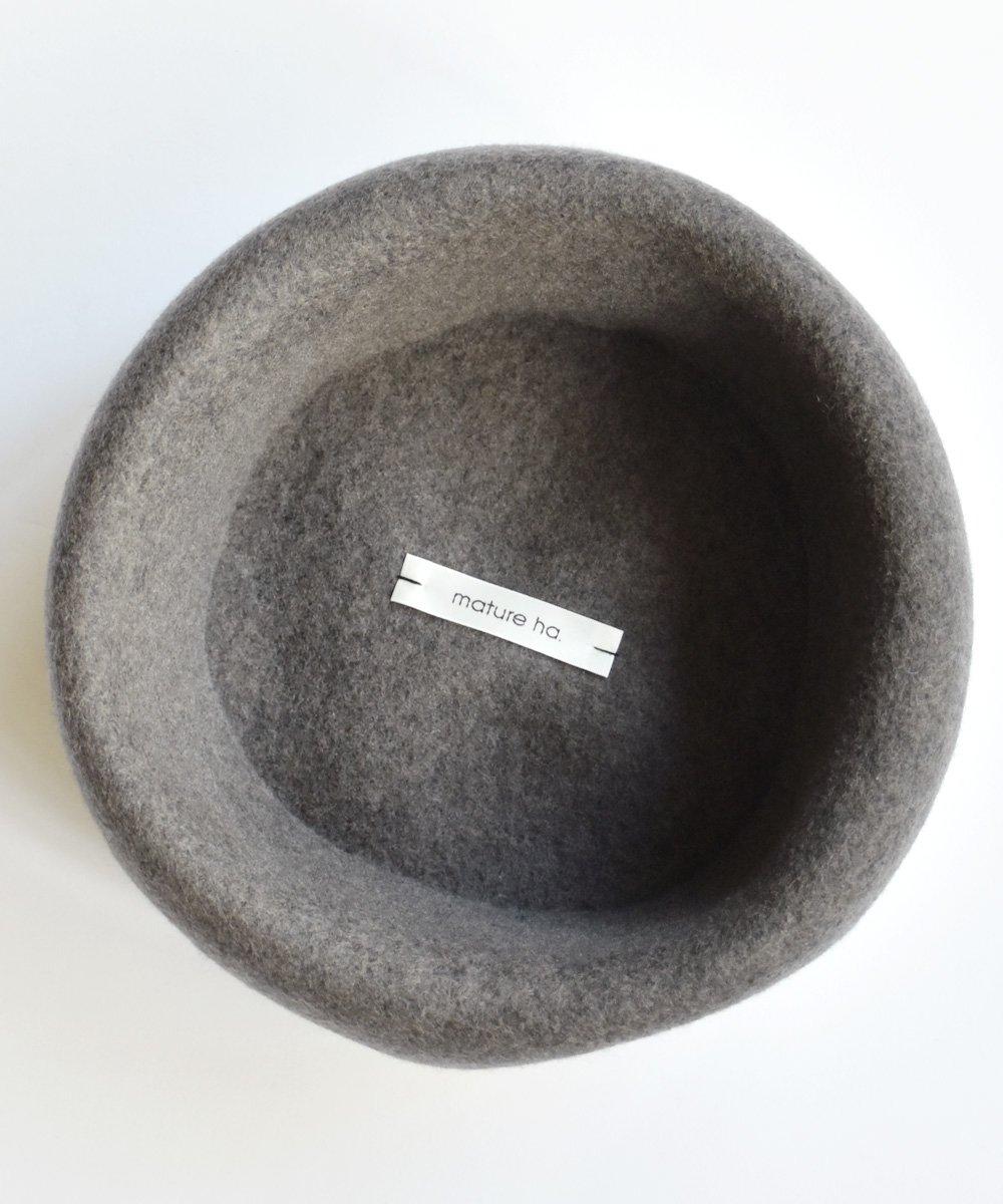 thin knit felt beret lamb(チャコールブラウン)<img class='new_mark_img2' src='https://img.shop-pro.jp/img/new/icons1.gif' style='border:none;display:inline;margin:0px;padding:0px;width:auto;' />