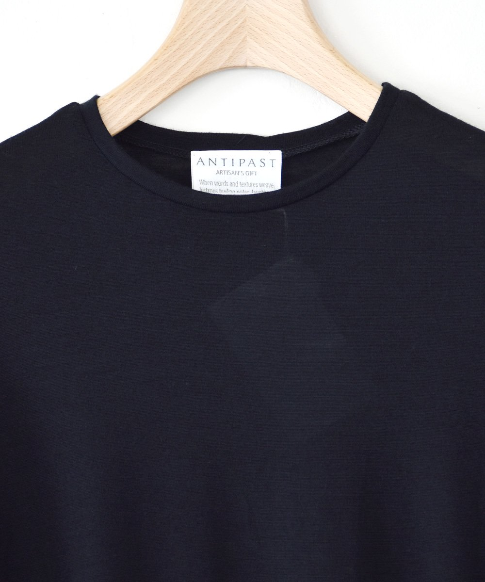 Wool Jersey T-shirts With Mesh Sleeves(ブラック) <img class='new_mark_img2' src='https://img.shop-pro.jp/img/new/icons1.gif' style='border:none;display:inline;margin:0px;padding:0px;width:auto;' />