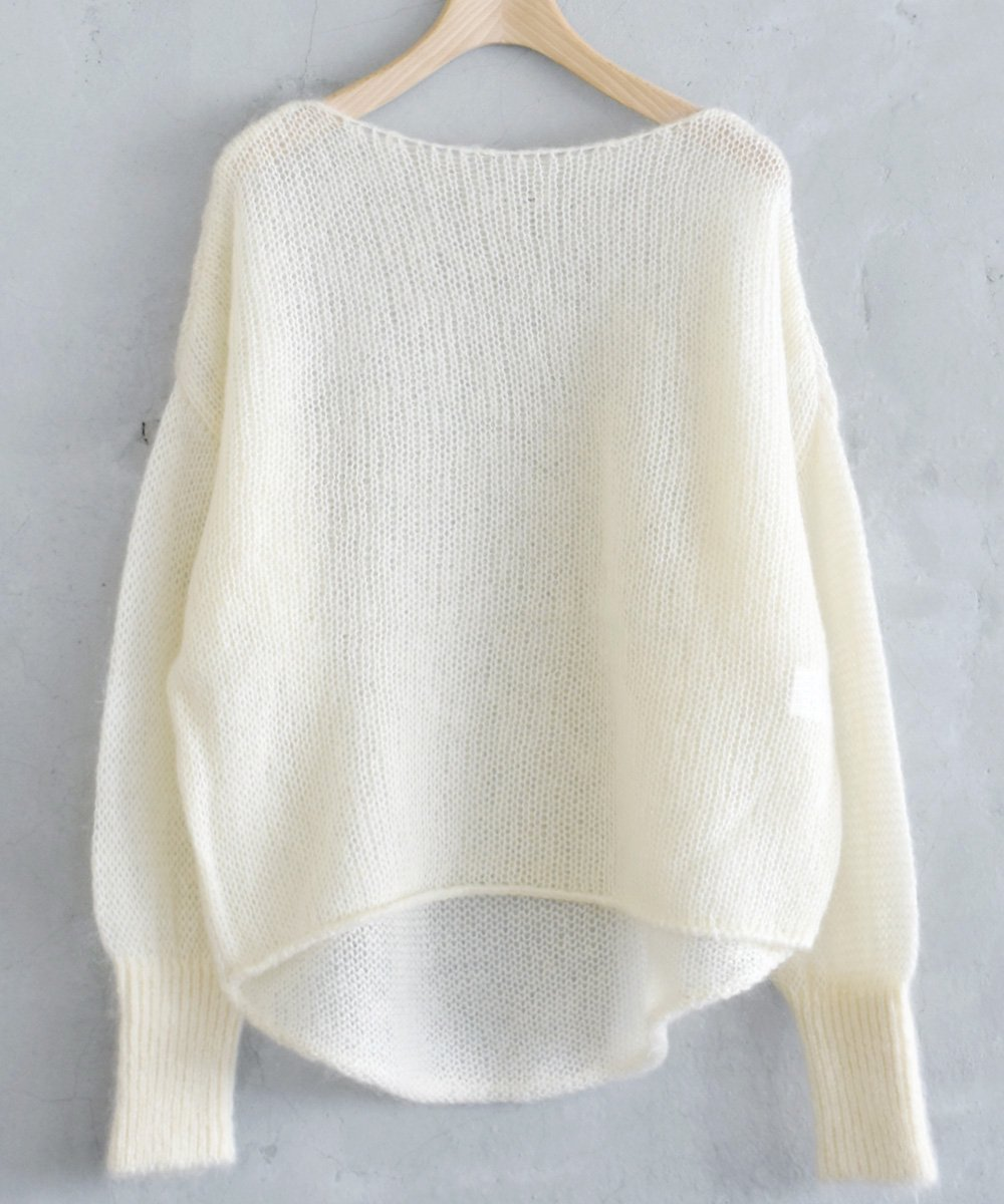 WANDERUNG / Kid Mohair Knit Pullover(アイボリー)<img class='new_mark_img2' src='https://img.shop-pro.jp/img/new/icons1.gif' style='border:none;display:inline;margin:0px;padding:0px;width:auto;' />