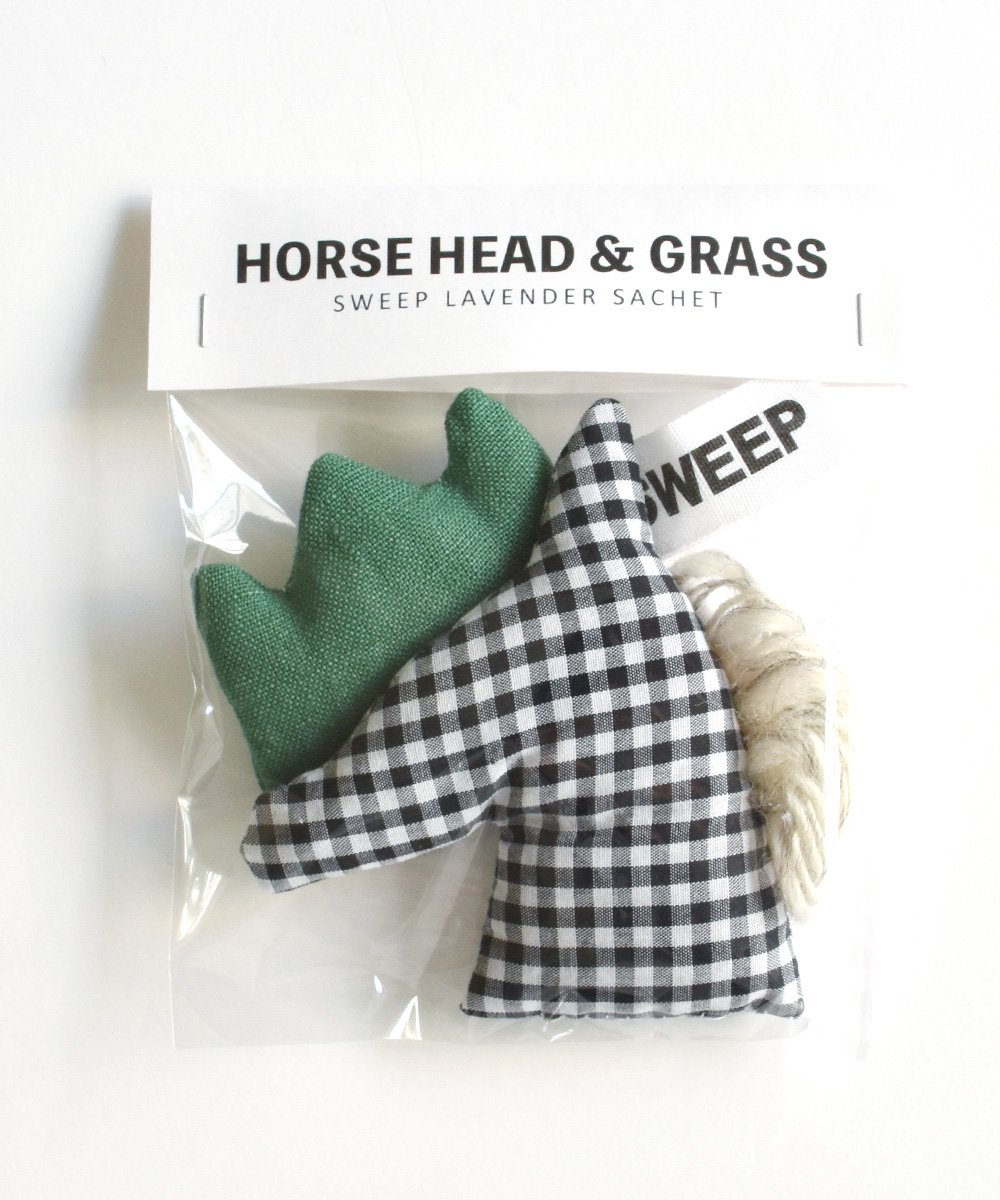 SWEEP(TIPTOE) / HORSE HEAD & GRASS SACHET(GINGHAM)<img class='new_mark_img2' src='https://img.shop-pro.jp/img/new/icons1.gif' style='border:none;display:inline;margin:0px;padding:0px;width:auto;' />