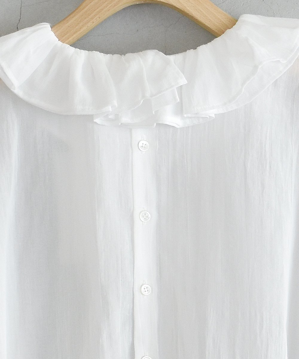 Cotton Chiffon Blouse(オフホワイト)<img class='new_mark_img2' src='https://img.shop-pro.jp/img/new/icons1.gif' style='border:none;display:inline;margin:0px;padding:0px;width:auto;' />