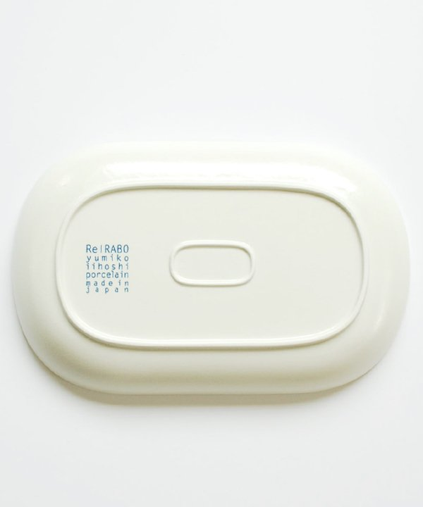 ReIRABO / Oval plate L(Quiet White)