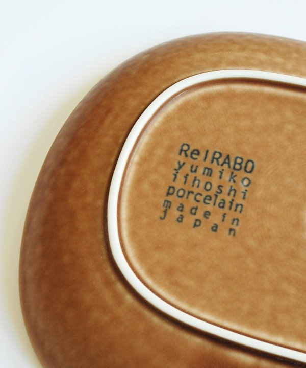 ReIRABO / Oval plate L(warm soil brown)