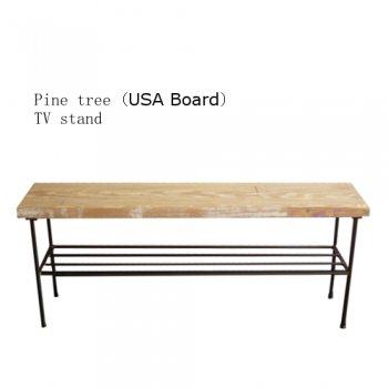 TV stand (USA足場板古材)