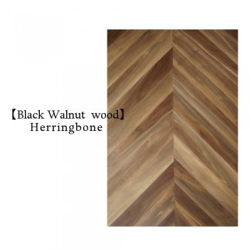 Walnut マーブルHerringbone Top board