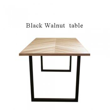 Walnut マーブルヘリンボーン ダイニングテーブル