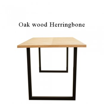 Oak ヘリンボーン ダイニングテーブル
