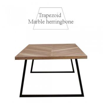 Walnut マーブルヘリンボーン ローテーブル