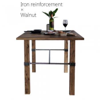 ウォールナット連結脚テーブル