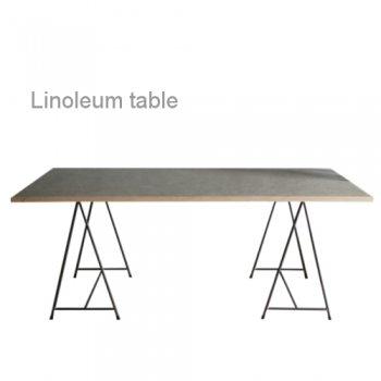 Linoleum SAW HORSEテーブル