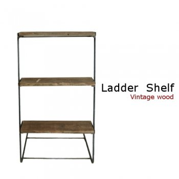 古材 Ladder  Shelf