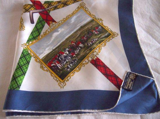 イタリア製 絵画風の絵柄シルクスカー...