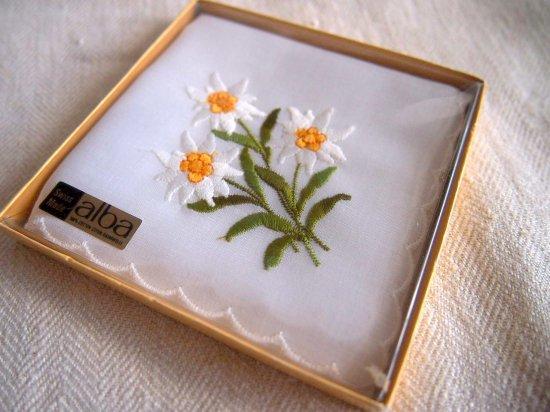 スイス製 刺繍ハンカチ 2枚セット