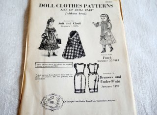 『Doll Clothes Patterns』Harper's Bazer 復刻版 人形用ドレスパターン<img class='new_mark_img2' src='//img.shop-pro.jp/img/new/icons8.gif' style='border:none;display:inline;margin:0px;padding:0px;width:auto;' />