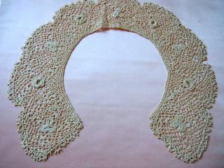 イギリス製 アイリッシュクロッシェ 手編みレース 替え襟