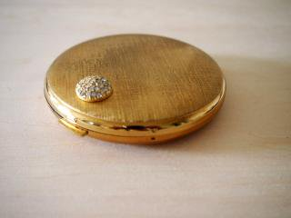 ドイツ製 【EMRICH】 ゴールドカラー&ジルコン飾りのコンパクト