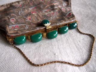 エキゾティックな絹織物 カクテルバッグ