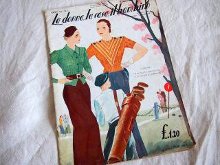 イタリア・ミラノのモード&ライフスタイル誌【La donnna,la casa,il bambino】1935年 5,6月号