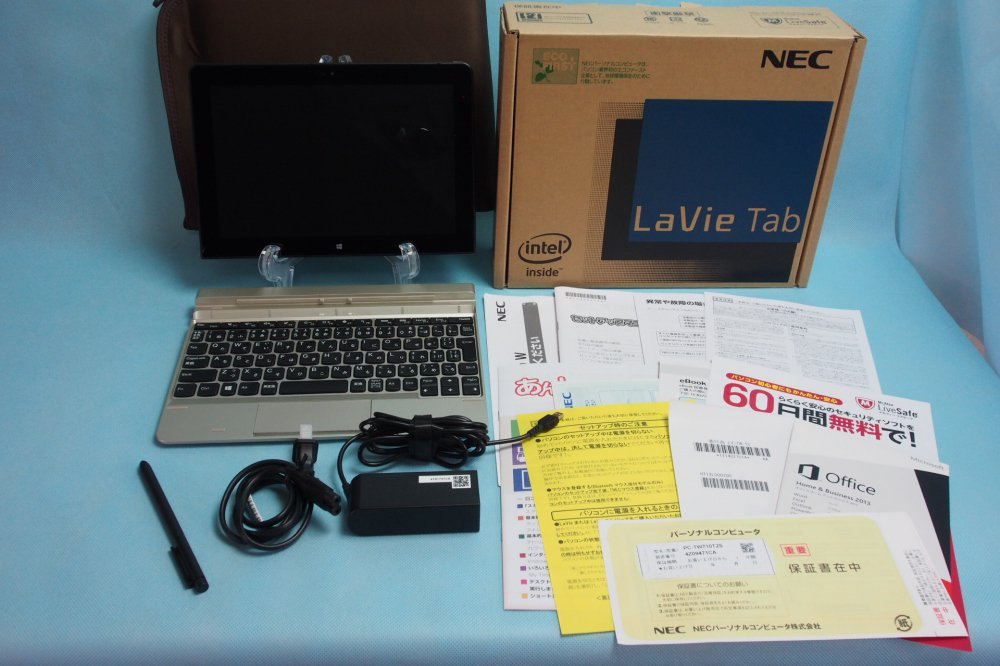 新品同様|NEC LaVie Tab W (Atom Z3795/4GB/64GB/Win 8.1 with Bing/Office H&B 2013/10.1インチ) PC-TW710T…