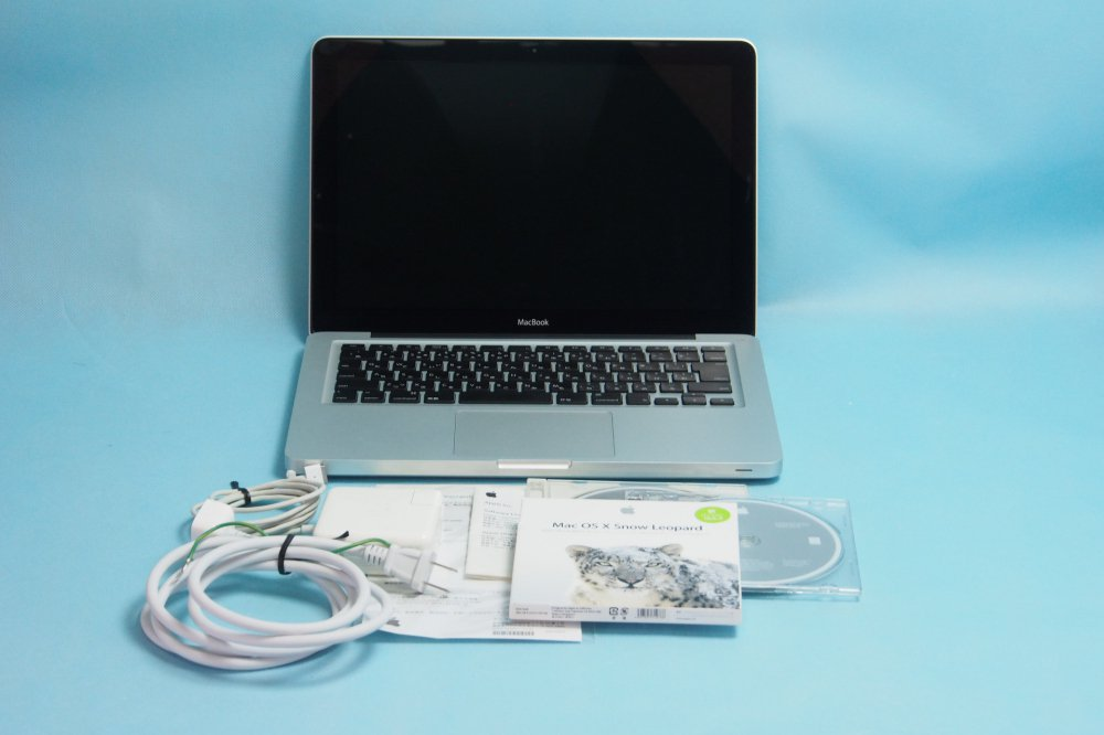 美品|Apple MacBook 13インチ Aluminum Late 2008 core 2 Duo 2GB 160GB 充放電回数391回