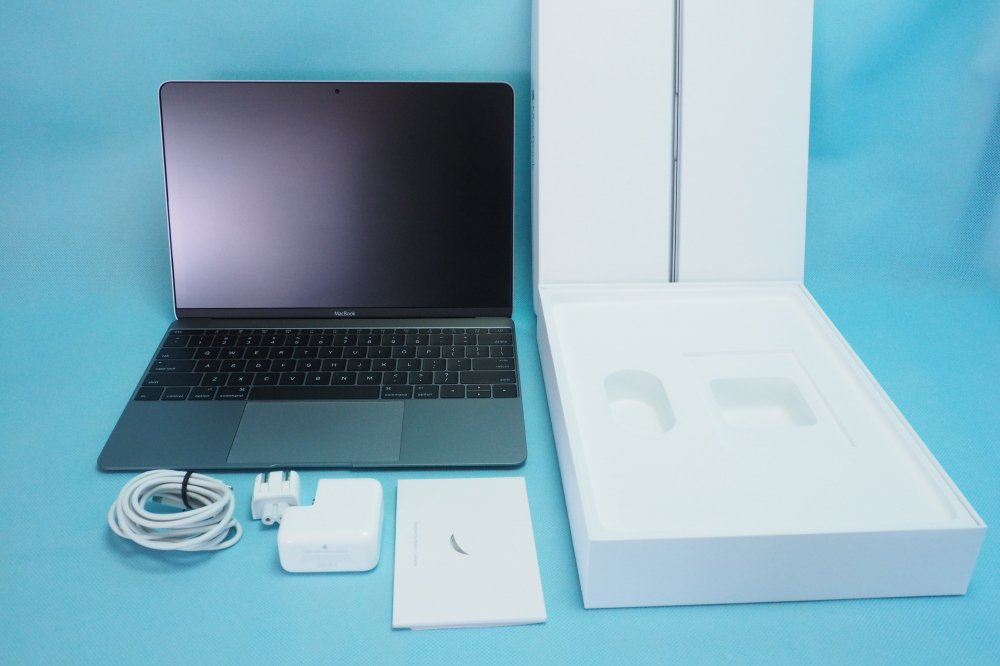 新品同様|Apple MacBook/12inch/Retina/1.3GHz/Core m7/8GB/SSD 500GB/Graphics 515 1536/USキー/Late 20…