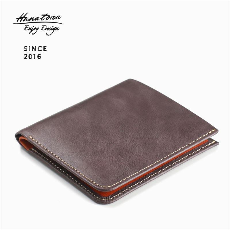 ベジタブルタンニンレザー二つ折り財布 basic