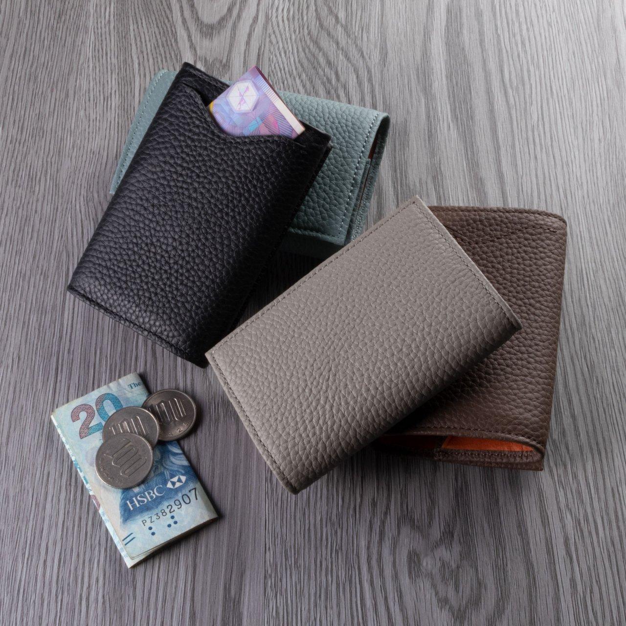 本革カードポケット付きコインケース