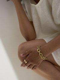 brass bold bracelet