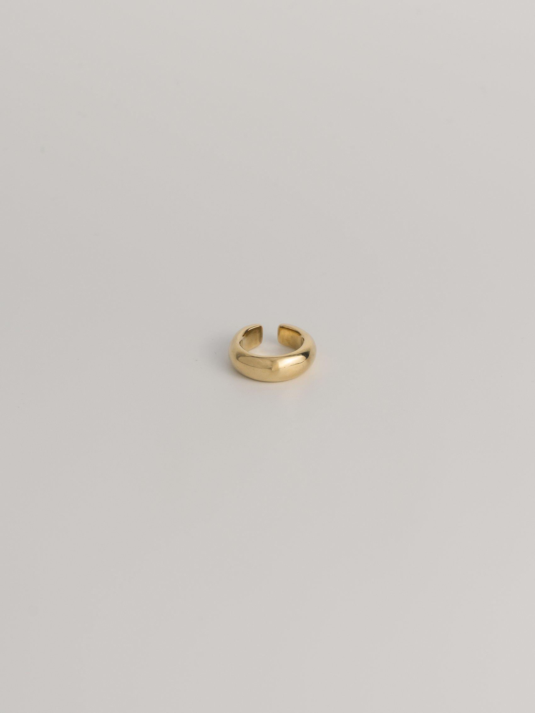 brass simple earcuff