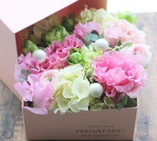 HANATAROオリジナルピンクBOXフラワー       【Sサイズ】★限定商品★
