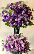 パープル系の2段スタンド花