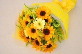 イエロー系の花束
