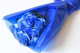 ブルーローズ 青いバラの花束