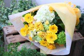 イエロー&グリーンの花束