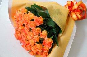 オレンジバラの花束★お父さんへの応援花★