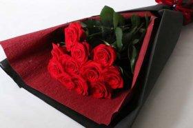 赤バラ12本の花束