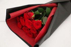 赤バラ11本の花束