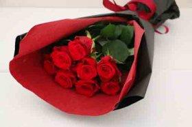 赤バラ8本の花束