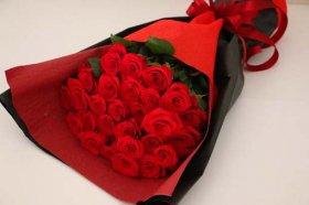 赤バラ28本の花束