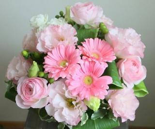 可愛いピンクのアレンジメント