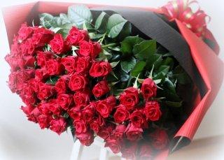 赤バラ60本の花束