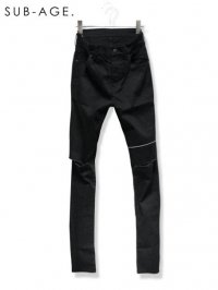 【SUB-AGE.】<br>DAMAGE LINE SKINNY PANTS