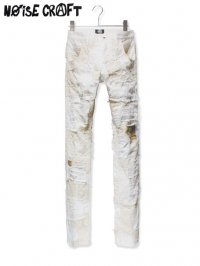 【NOiSE CRAFT】<br>CRUST SKINNY DENIM PANTS / WHITE