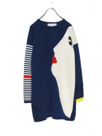 【USED】<br>FACE DESIGN KNIT